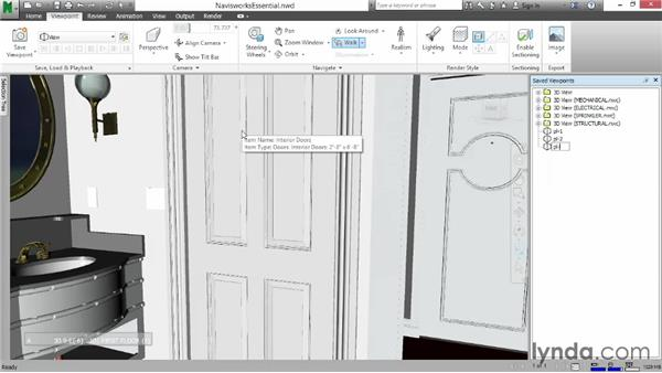 Animating saved viewpoints: Navisworks Essential Training