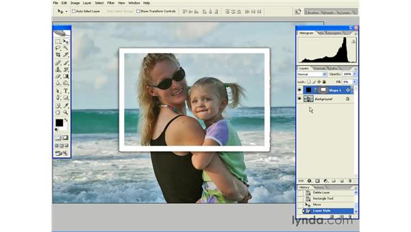 Creating a Stroke with Sharp Corners: Photoshop CS2 Essential Training