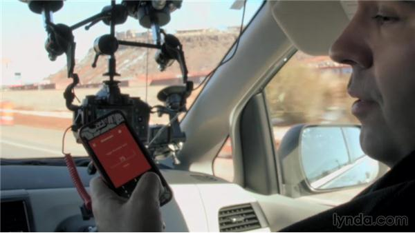 Monitoring the shot in the car: Shooting a Hyperlapse Time-Lapse Video