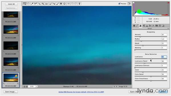 Post-processing the files with Adobe Camera Raw: Shooting a Hyperlapse Time-Lapse Video