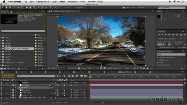 Assembling the shot with After Effects: Shooting a Hyperlapse Time-Lapse Video