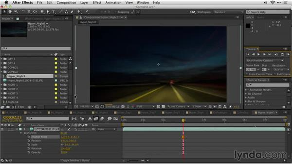 Frame blending the shot with After Effects: Shooting a Hyperlapse Time-Lapse Video