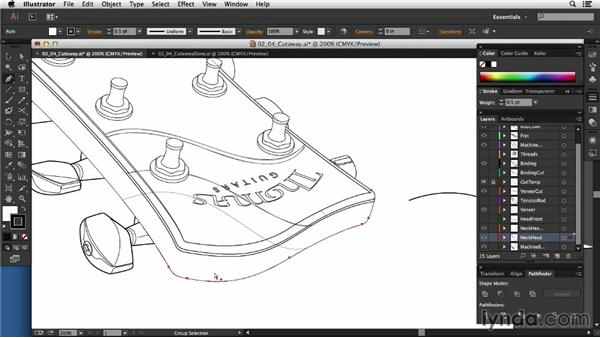 Creating the initial cutaway: Technical Illustration: Creating a Cutaway