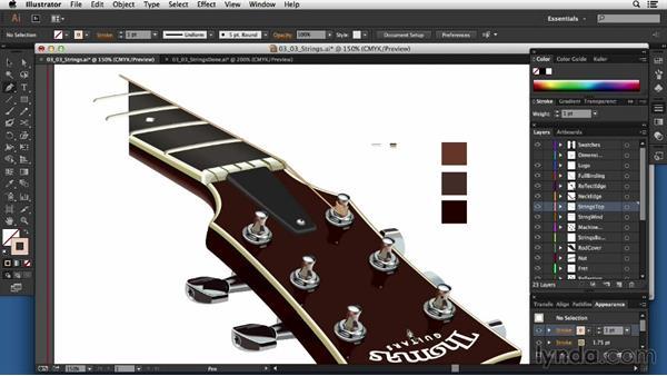 Adding strings: Technical Illustration: Creating a Cutaway
