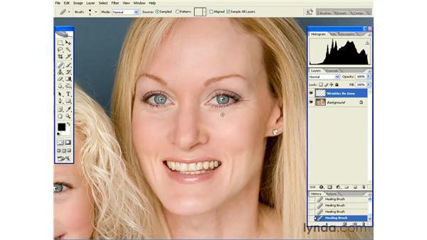 De-emphasizing Wrinkles: Photoshop CS2 Essential Training