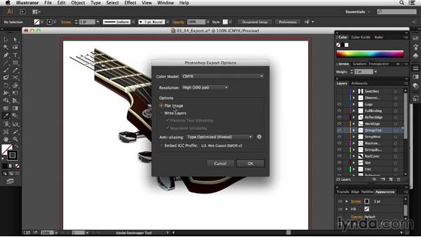 Keeping organized: Exporting to Photoshop: Technical Illustration: Creating a Cutaway