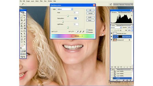 Brightening Teeth: Photoshop CS2 Essential Training