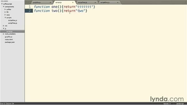 Adding a default task and live reloading: Up and Running with CoffeeScript