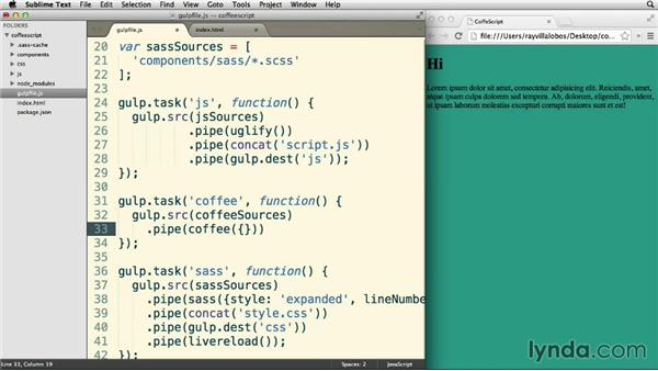 Adding CoffeeScript: Up and Running with CoffeeScript