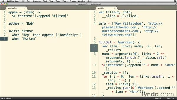 Using the switch statement: Up and Running with CoffeeScript