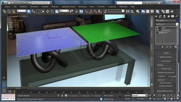 Welcome: Cloth Simulation in 3ds Max