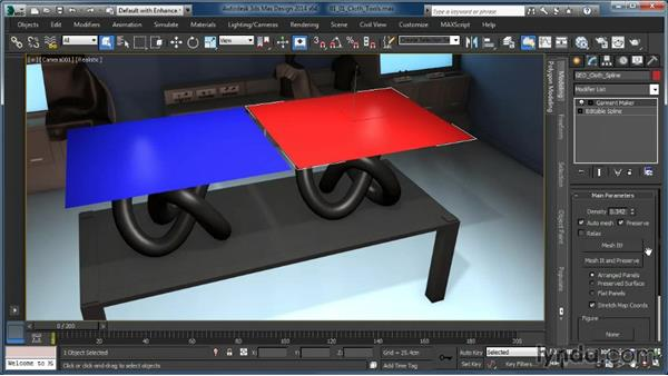 Overview of cloth tools: Cloth Simulation in 3ds Max