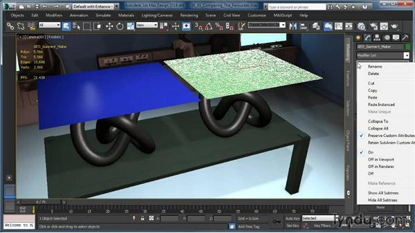 Mesh subdivision: Comparing the favorites: Cloth Simulation in 3ds Max