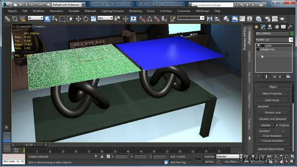 Other useful subdivision methods: Cloth Simulation in 3ds Max
