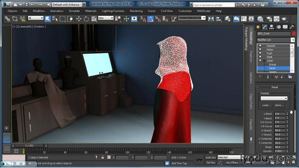 Cloth modifier sub-object modes: Panels: Cloth Simulation in 3ds Max