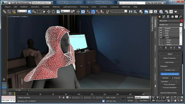 The Simulate Local buttons: Cloth Simulation in 3ds Max