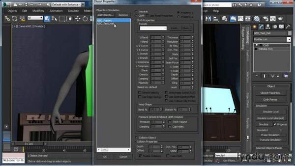 Understanding the Cloth modifiers workflow: Cloth Simulation in 3ds Max