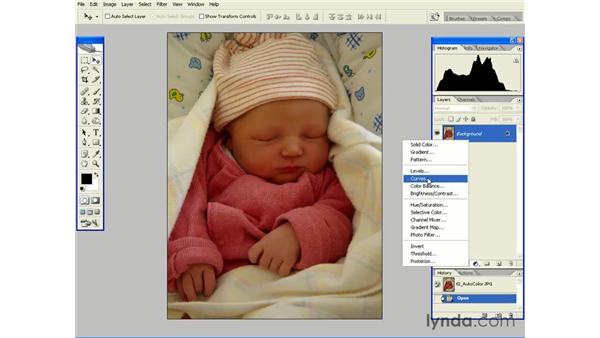 Using Auto Color as an Adjustment Layer: Photoshop CS2 Essential Training