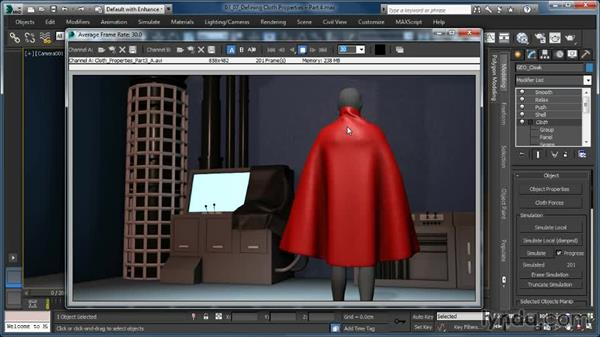 Defining Cloth properties: Plasticity and Thickness: Cloth Simulation in 3ds Max