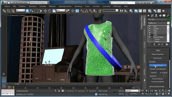 Defining Cloth properties: U and V Scale: Cloth Simulation in 3ds Max