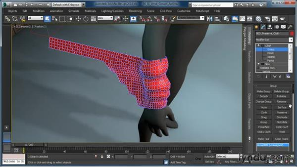 What groups are and how they work: Cloth Simulation in 3ds Max