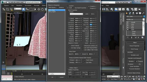 Creating wet cloth: Cloth Simulation in 3ds Max