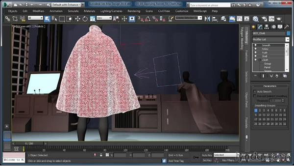 Applying forces to cloth: Cloth Simulation in 3ds Max