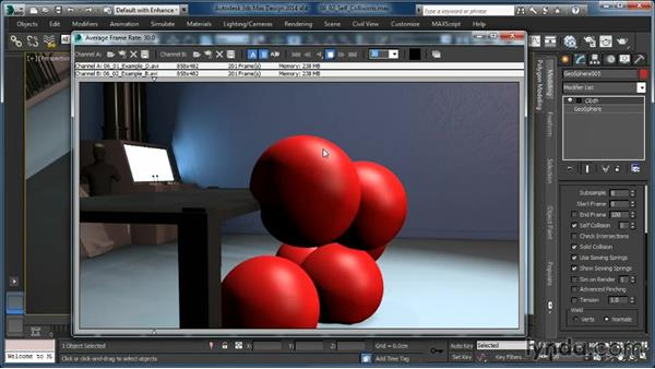 Self-collisions and intersections: Cloth Simulation in 3ds Max