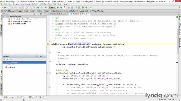 Navigating the user interface: Android Studio First Look