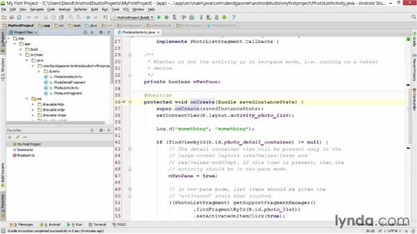 Exploring other tool windows: Android Studio First Look