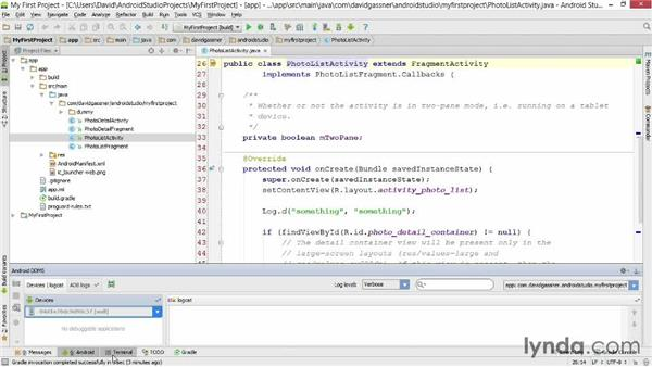 Manipulating the window layout: Android Studio First Look
