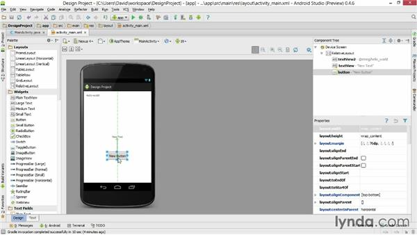 Designing activity layouts: Android Studio First Look