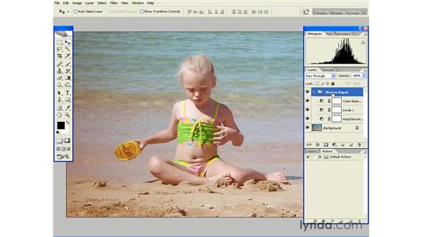 Repairing Discolored and Noisy Shadows: Photoshop CS2 Essential Training