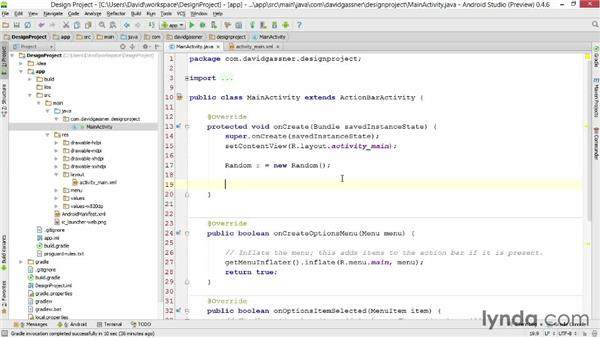 Using auto-completion and quick fixes: Android Studio First Look