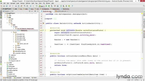 Finding Java classes and other files: Android Studio First Look