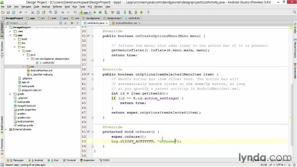 Filtering logcat messages: Android Studio First Look