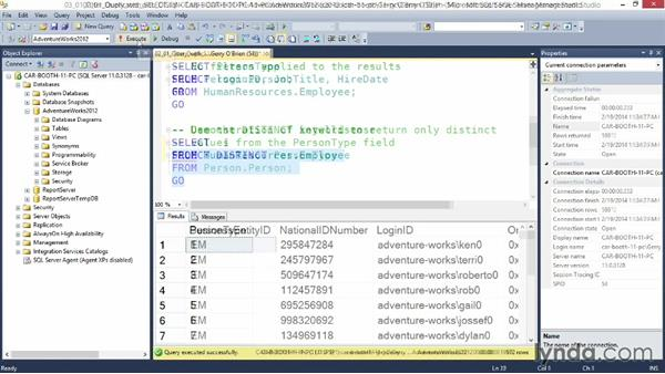 Welcome: Querying Microsoft SQL Server 2012