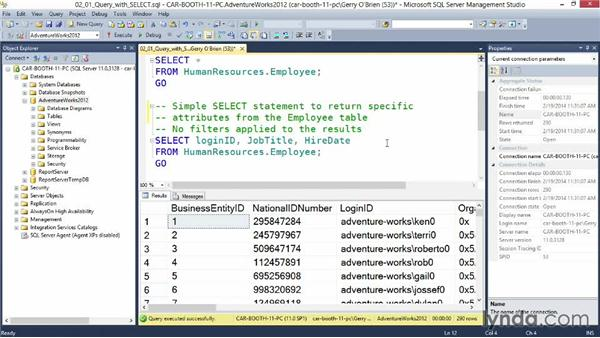 writing sql queries