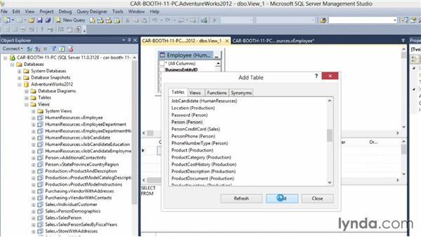 Introducing views: Querying Microsoft SQL Server 2012