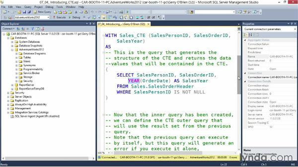 Introducing common table expressions: Querying Microsoft SQL Server 2012