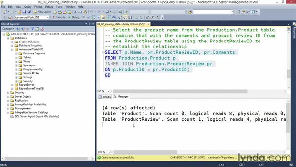 Interpret performance data: Querying Microsoft SQL Server 2012
