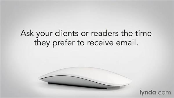 Emailing at the right time: Writing Email