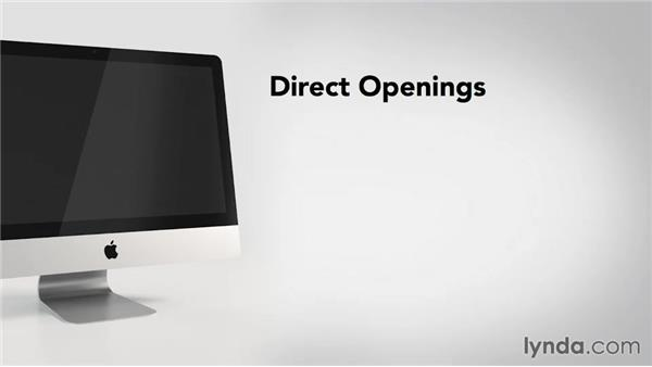 Using direct openings: Writing Email
