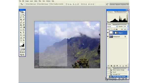 Changing the Opacity of a Layer: Photoshop CS2 Essential Training