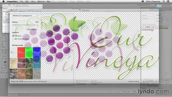 Preview the final project: Design the Web: Creating Smaller Graphics with PNG-8