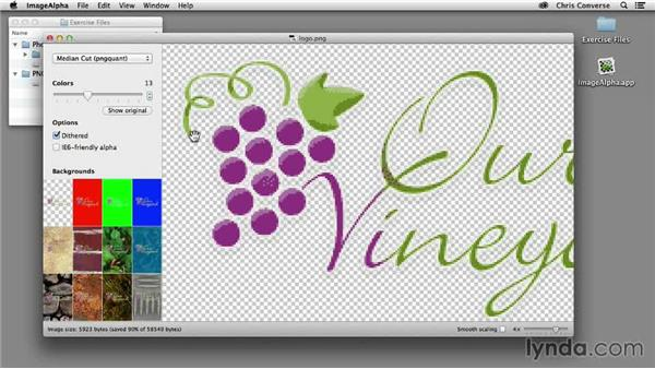 PNG-8 with ImageAlpha for Mac: Design the Web: Creating Smaller Graphics with PNG-8