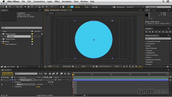Welcome: Mograph Techniques: Shape Animation in After Effects