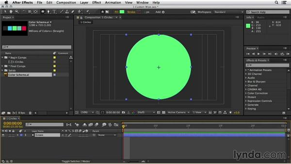 Basic circle animation reveal: Mograph Techniques: Shape Animation in After Effects
