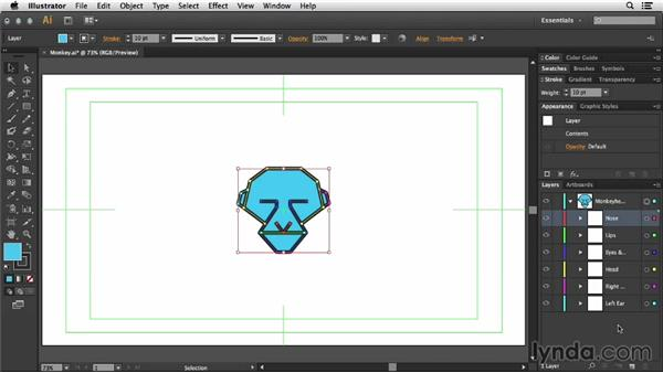 Preparation of artwork in Illustrator: Mograph Techniques: Shape Animation in After Effects