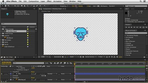 Dividing to separate shapes and paint over time: Mograph Techniques: Shape Animation in After Effects
